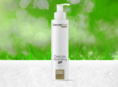CannabiGold – Ultra Care Delicate Cleansing Gel  | 200 ml CBD Creme, 25 mg CBD