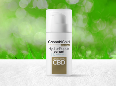 CannabiGold – Ultra Care Hydro-Repair Serum | 30 ml CBD Creme, 150 mg CBD